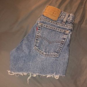 Levi's 550 Cutoff Denim Shorts